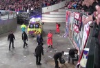 First Video. Ajax fan falls from stand during game against Barcelona 26.11.2013